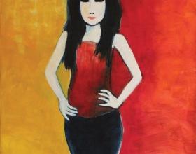 7-Elina, 2011 140cm x 140cm Oil On Canvas