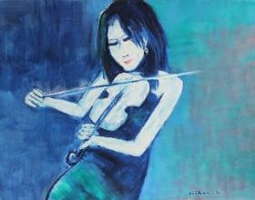 8-Eliza, 2011 90cm x 140cm Oil On Canvas