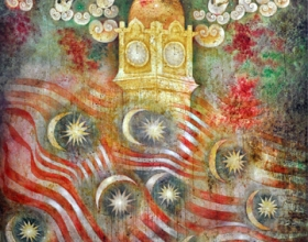 15-Jalur Gemilang, 2002. Oil on Canvas.127cm x 127cm