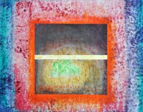 18-Ka'bah, 2011. Oil on Canvas. 92cm x 92cm. NFS