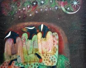29-Moon of Ramadhan, 1997. Oil on Canvas. 127cm x 127cm