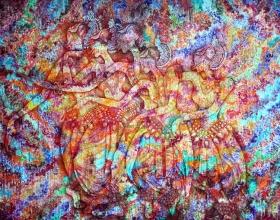 31-Springmood II, 2007. Oil on Canvas. 230cm x 305cm