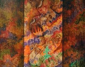 33-The Kiss, 2008. Oil on Canvas. 127cm x 127cm