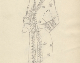 5-Drawing- Kebaya Series (2), 2011. Pencil on Paper. 27cm x 21cm