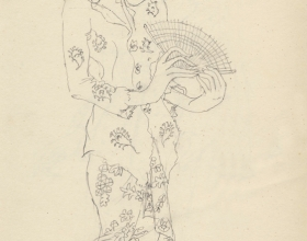 6-Drawing- Kebaya Series (3), 2011. Pencil on Paper. 27cm x 21cm