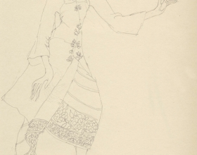 8-Drawing- Kebaya Series (5), 2011. Pencil on Paper. 27cm x 21cm
