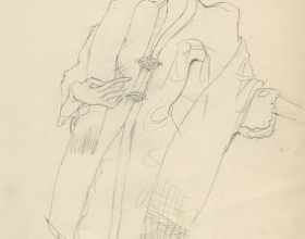 9-Drawing- Kebaya Series (6), 2011. Pencil on Paper. 27cm x 21cm