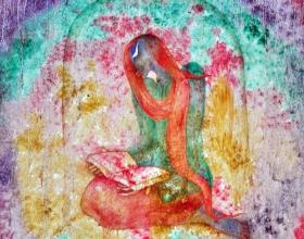 13-Holy Book, 2011. Oil on Canvas. 92cm x 92cm