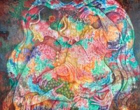 14-Ibu, 2011. Oil on Canvas. 127cm x 127cm