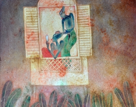 16-Joy of Being Together, 1997. Oil on Canvas. 61cm x 61cm
