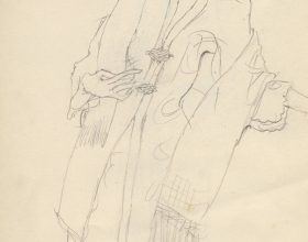 4-Drawing- Kebaya Series (1), 2011. Pencil on Paper. 27cm x 21cm