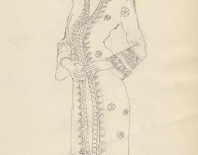 5-Drawing- Kebaya Series (2), 2011. Pencil on Paper. 27cm x 21cm