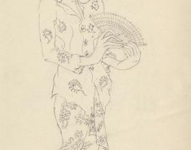 6-Drawing- Kebaya Series (3), 2011. Pencil on Paper. 27cm x 21cm