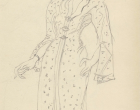 7-Drawing- Kebaya Series (4), 2011. Pencil on Paper. 27cm x 21cm