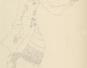 8-Drawing- Kebaya Series (5), 2011. Pencil on Paper. 27cm x 21cm
