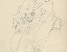 9-Drawing- Kebaya Series (6), 2011. Pencil on Paper. 27cm x 21cm