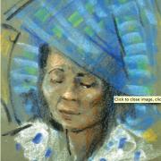 1-Sarawakian Woman, 1969 RM 5,500.00-SOLD | Pastel on paper | 36.5 x 24.2 cm