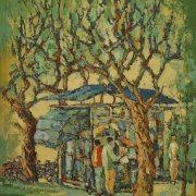 8-At the Park, 2005 RM 5,500.00SOLD | Oil on canvas | 74 x 59.5 cm