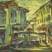 10-Morning Market, 1997 RM 11,550.00-SOLD | Oil on canvas | 65 x 79.5 cm
