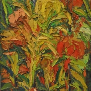 9-Flower Series, 2007 RM 9,350.00-SOLD | Oil on canvas | 70 x 60 cm