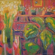 13-The Study, 1993 RM 10,450.00-SOLD   Oil on canvas   54 x 62 cm