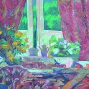 18-High Tea, 1993 RM 12,100.00-SOLD   Oil on canvas   114 x 100 cm