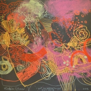 19-I Got No Where To Go But Here, 2013 RM 9,900.00-SOLD   Mixed media on canvas   122 x 122 cm