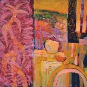21-Saffron, 2001 RM 11,760.00-SOLD   Oil on canvas   90 x 100. 5 cm