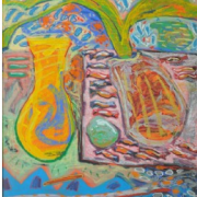 4-Sweets for Ayu, 1997 RM 13,200.00-SOLD   Mixed media on canvas   150 x 125 cm