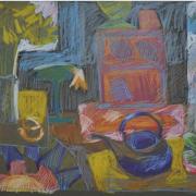 5-Garden Series I, 1996 RM 3,300.00-SOLD   Oil pastel on paper   37 x 52 cm