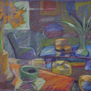 6-Garden Series II, 1996 RM 4,400.00-SOLD   Oil pastel on paper   37 x 52 cm