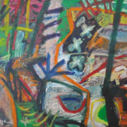 2-Water Below, 1998 RM 8,800.00-SOLD   Mixed media on canvas   71 x 100 cm