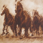 2-Horses, 1994 RM 8,800.00-SOLD | Oil on canvas | 83 x 62 cm