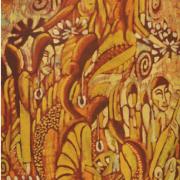 Natives of Sarawak, 1960s RM 8,800.00-SOLD | Batik | 82 x 37 cm
