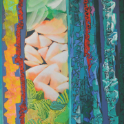 10-RM 16,500.00-SOLD Raphael Scott Ahbeng, Celestial Curtain, 2002, Oil on canvas 240 x 182 cm