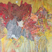 13-RM 15,950.00-SOLD RSA Woods, 2008, 180 x 243 cm, acrylic on canvas