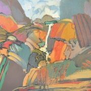 20-Moi Falls, 2006 RM 2,750.00-SOLD   Oil on board   30 x 45 cm