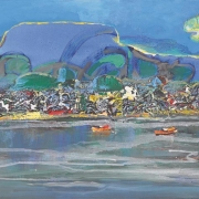 22-Seaside, Undated RM 10,450.00-SOLD   Acrylic on canvas   60 x 90 cm