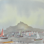 26-The Great Race at Santubong, 1990 RM 1,120.00-SOLD   Watercolour on paper   28 x 38 cm