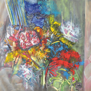 27-Forest Magnet, 2012 RM 16,800.00-SOLD   Oil on canvas   96.5 x 128 cm