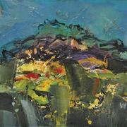 """28-RM 3,584.00-SOLD Raphael Scott Ahbeng, """"Kinabalu"""" (2009), 22.5cm x 30.5cm, Oil on board"""