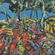 31-RM 896-SOLD Raphael Scott Ahbeng, _Old Garden_ (2012), 30.5cm x 22.5cm, Oil on board Previous Price