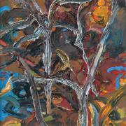 "36-1,680 Raphael Scott Ahbeng, ""Seraya"" (2012), 45cm x 30cm, Oil on board"