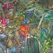15-Forest Clockwork, 1996 RM 13,200.00-SOLD | Acrylic on canvas | 99 x 138 cm