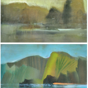 19-Mutud & Pandan, 2010 RM 2,200.00-SOLD | Oil on board | 30.5 x 45 cm x 2 pieces