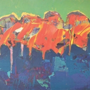 21-Lonesome Trees, 2010 RM 1,540.00-SOLD | Oil on board | 30 x 45 cm