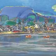 22-Seaside, Undated RM 10,450.00-SOLD | Acrylic on canvas | 60 x 90 cm