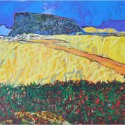 8-Road to Singai, 2011 RM 16,500.00-SOLD | Oil on canvas | 96 x 128 cm