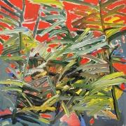 RSA, Bodang Reeds, 2014, acrylic on board, 30.5 x 30.5 cm