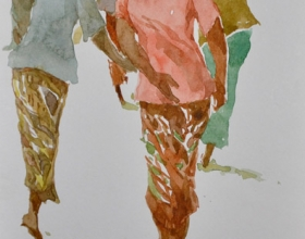 10-Khalil Ibrahim, East Coast Series, (undated) SOLD Watercolour on Paper 14.5cm x 21cm